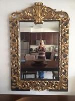 Hand Carved Gold Leaf Mirror