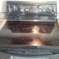 GLASS TOP STOVE W/ CONVECTION