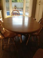 Solid Oak Kitchen/Dining Room Table
