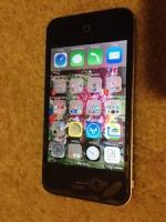 Iphone 4 16gb unlocked crack back w/otterbox commuter