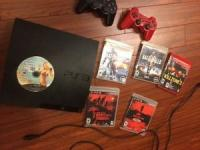 Sony playstation 3 160GB, 2 controllers, 6 games